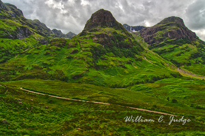 clouds, glencoe scotland highland, green, highlands, massacre, scottish, william judge