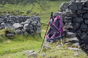 backpack, highlands, mull, ruins, scotland, stone, william judge